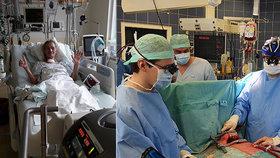 Maminka (35) dvouletého dítěte má plíci pověšenou na hrudi. Čeští lékaři slaví úspěch