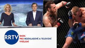 Neobdivujte McGregora, nařizuje RRTV: Kazíte tím děti. Přestane Nova ukazovat zápasy?