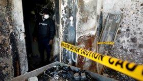 V ohnivém pekle zemřelo 15 dětí. Batolata při požáru sirotčince na Haiti udusil kouř