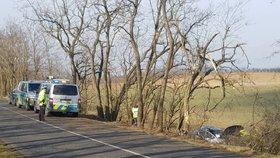 Řidič (†29) vyletěl na Znojemsku ze silnice, na místě zemřel