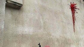 Nové dílo tajemného Banksyho poničili vandalové. U domu vznikne ochranný plot