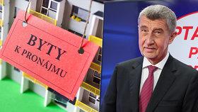 Babiš kvůli drahému bydlení peskoval banky. O hypotékách chce jednat i s Rusnokem