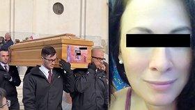 Na Sardinii se loučili se zavražděnou Zdenkou (†41): Kněz popsal posledních 40 minut jejího života