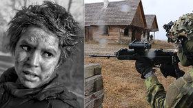Česká armáda obsadila osadu v Boleticích: Natáčeli tam Nabarvené ptáče