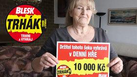 Irena Odehnalová (75) z Mikulova vyhrála v denní hře Trhák: Vyšlo to hned napoprvé!