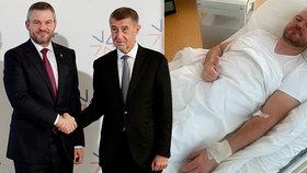 Premiér skončil v nemocnici: Rozsáhlá infekce. Pellegrini tvrdí, že do voleb je fit
