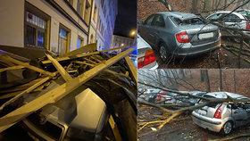 """Orkán Yulia ničil auta, bral střechy a """"trhl"""" rekord. Tisíce lidí byly bez proudu"""