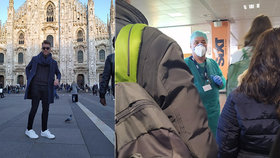 """Z Italů čiší nervozita,"" říká o koronaviru Martin. A popsal šok po návratu: Let nikoho nezajímal"
