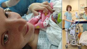 Tobiášek se prodral na svět ve 27. týdnu: Speciální lůžko postavili lékaři nad maminku