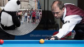 """""""Praha by bez turistů byla hezčí,"""" říká Dion Nelin (43). Kulečníkový přeborník stanovil nový český rekord"""