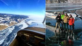 Husarský kousek: Pilot ignoroval bezpečnostní varování a přistál na zamrzlém Bajkalu