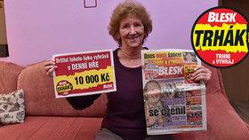 Svatava (76) si předplatila Blesk a teď denně hraje Trhák: Za 10 000 Kč bude pračka a dárky pro pravnoučata
