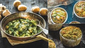 Což takhle dát si špenát? 4 recepty na zelené dobroty: Muffiny, nákyp, špalíčky i těstoviny