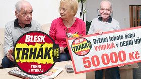 Josef Hejl (74) z Kolína popsal, jak v denní hře Trháku dosáhl nejvyšší mety: Jsem hravý, mám 50 000 Kč