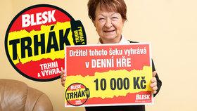 Ludmila (74) už na štěstí nevěřila: Teď si »trhla«10 tisíc! Vyhrála jsem, funguje to!