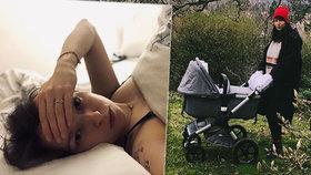 Novopečená matka Berenika Kohoutová šokuje: Pojídá vlastní placentu!