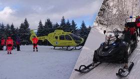 Drama v Jeseníkách: Běžkař po kolapsu zemřel před zraky manželky