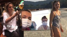 Kvůli koronaviru vypukla v letadle panika: Studentky měly jen kocovinu