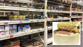 Češi kvůli koronaviru vykoupili konzervárny. Mizí i bojové jídlo z army shopů