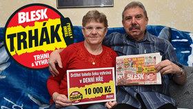 Manželé Dokoupilovi z Vrbátek uspěli ve hře Trhák: Oslava sedmdesátin za 10 tisíc!