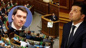 """Vláda na Ukrajině končí. """"Nekrást je málo,"""" řekl prezident a přijal demisi premiéra"""
