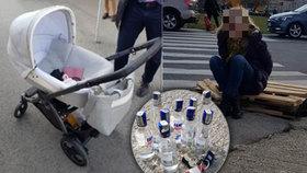Opilá řidička (57) vjela autem na chodník: Srazila maminku s kočárkem!