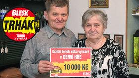 Manželé Třeštíkovi z Novosedlic uspěli v Trháku: 10 tisíc pro pravnučku!