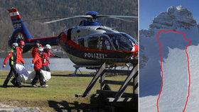 Tragédie v Rakousku: Pod lavinou zemřelo 5 Čechů. Na túru vyrazili i přes výstrahu