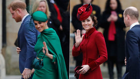 Luxus Meghan, recyklovaná Kate: Souboj vévodkyň rozsekla královna! Sedět budeš vzadu!