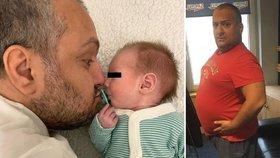 Perné chvilky Patrika Hezuckého: Jeho syn Oliver (3 měsíce) onemocněl!