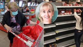 Prodavačky jsou hrdinky, říká prezidentka a Čechy vyzývá: Nakupovat jděte v roušce