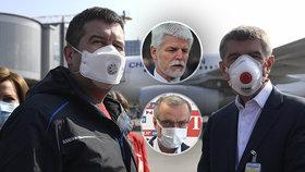 """Babiš děkoval na letišti Zemanovi. Kalouskovi je """"na blití"""", generál Pavel volá po soudnosti"""