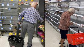 Hladoví senioři v slzách nad prázdnými regály. Vykoupené potraviny ohrožují i lékaře
