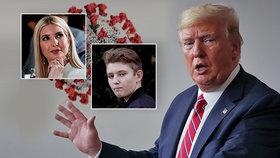 Koronavirus u Trumpových: Prezidentův syn je v karanténě, Ivanka šla na testy
