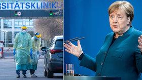 Merkelová v karanténě po nákaze od lékaře. Němci zakazují shromáždění více než dvou lidí