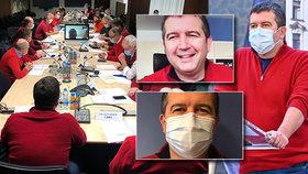 Hamáček řekl, kde se vzal červený svetr: O koronaviru a strašení, rouškách i sobcích