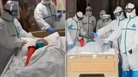 Číňanka (103) se za 6 dní uzdravila z COVID-19! Zdravotníci oslavovali u jejího lůžka