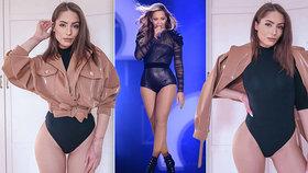 Popálená Týnuš Třešničková: Místo roušky vytáhla sexy body jako Beyoncé!