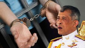 Thajci zpochybňují monarchii: Může to být cesta do vězení