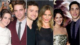 Slavné páry, které se rozešly během natáčení