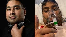 Oblíbený muzikant s koronavirem zveřejnil fotku z nemocnice: Za dva dny nemoci podlehl!