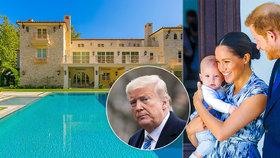 """Meghan a Harry konečně """"na svobodě""""! Požádají Trumpa o ochranku?!"""