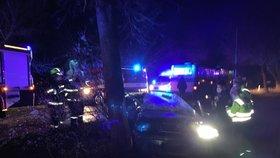 Smrt na silnici: Řidič (†35) u Dobřichovic napálil do stromu, na místě zemřel