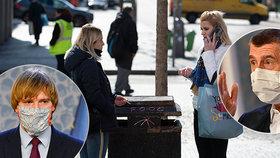 Přísné zákazy v Česku se protáhnou do Velikonoc. Batolata a šoféři už nemusí mít roušky