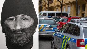 Vousáč s předkusem v Chomutově napadl mladou ženu a utekl: Poznáváte muže na identikitu?