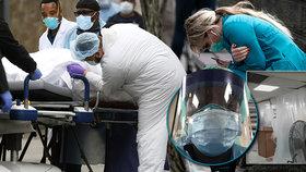 """""""Vidím jen utrpení,"""" říká lékařka o děsu v New Yorku. Černý scénář? 2,2 milionu mrtvých v USA"""