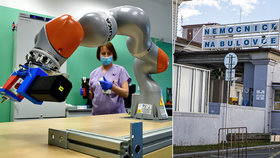 Unavení laboranti z Bulovky zapojili robota Pipeťáka do akce. Jeden vzorek jim projde rukama až třináctkrát