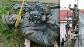 Přísně střežený maršál Koněv: Kontroverzní sochu z Prahy 6 nonstop hlídá ostraha
