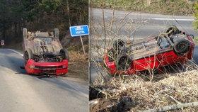 Groteska pod dohledem kamer: Opilý řidič jezdil tam a zpět, nakonec se skutálel ze svahu!