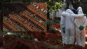 Děsivý výjev: Pro mrtvé z epidemie připravují masově hroby!
